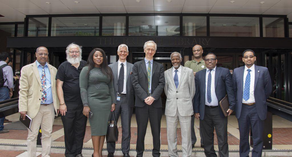 Ambassador Hailemichael and team visit British Library